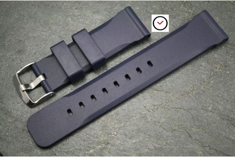 Night Blue Technical natural rubber watch strap
