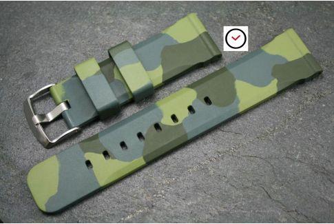 Bracelet montre caoutchouc naturel Technique Camouflage