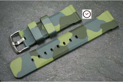 Camouflage Technical natural rubber watch strap