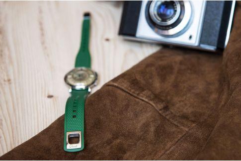 Bracelet montre Olaaf Vert Anglais, fabriqué en France