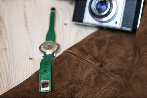 English Green Olaaf watch strap, made in France