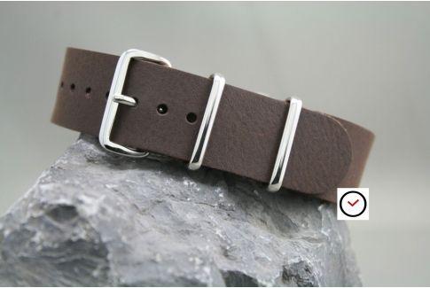 Bracelet cuir NATO Marron brut