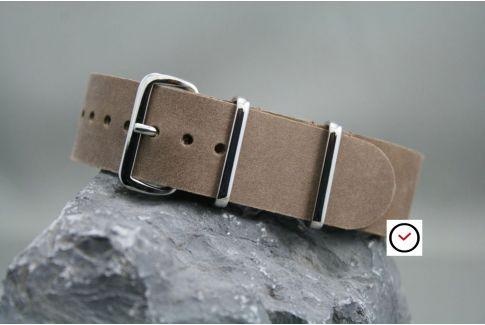 Bracelet cuir NATO Cannelle