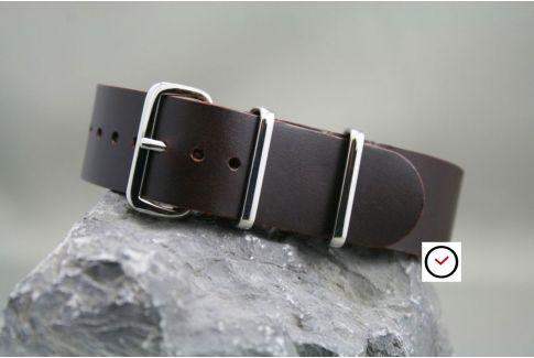 Bracelet cuir NATO Classique Marron foncé