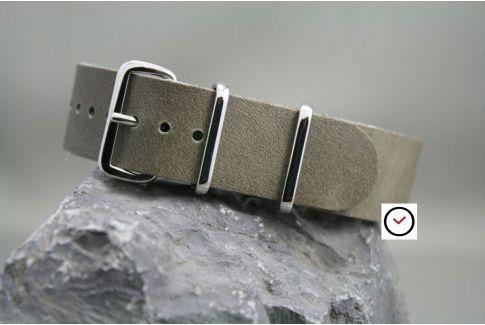 Bracelet cuir NATO Gris