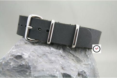 Bracelet cuir NATO Noir Vintage