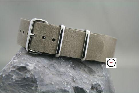 Bracelet cuir NATO Gris Vintage