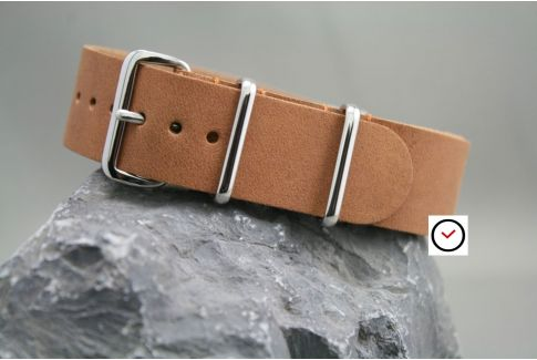 Bracelet cuir NATO Savane