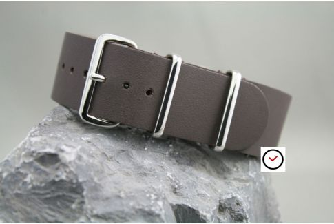 Matt Brown leather G10 NATO strap