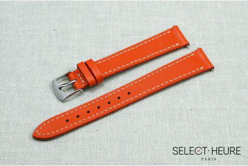 Bracelet montre cuir SELECT-HEURE Orange pour femmes, pompes rapides (interchangeable)