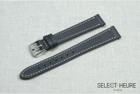 Bracelet montre cuir SELECT-HEURE Gris pour femmes, pompes rapides (interchangeable)