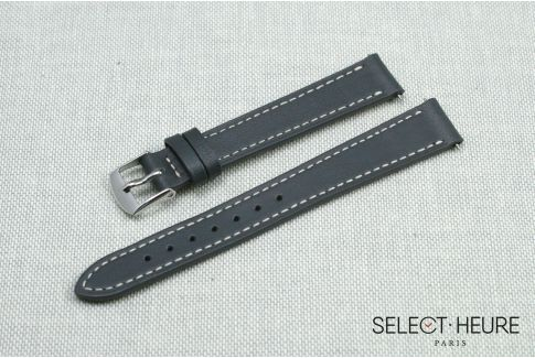 Grey SELECT-HEURE women leather watch strap, quick release spring bars