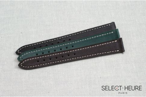 Dark Brown SELECT-HEURE women leather watch strap, quick release spring bars