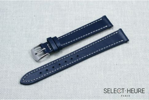 Navy Blue SELECT-HEURE women leather watch strap, quick release spring bars