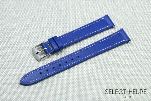 Bracelet montre cuir SELECT-HEURE Bleu Roi pour femmes, pompes rapides (interchangeable)