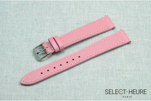 Pink SELECT-HEURE women leather watch strap, quick release spring bars