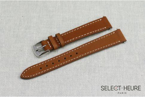 Gold Brown high-end calskin SELECT-HEURE women watch strap, quick release spring bars