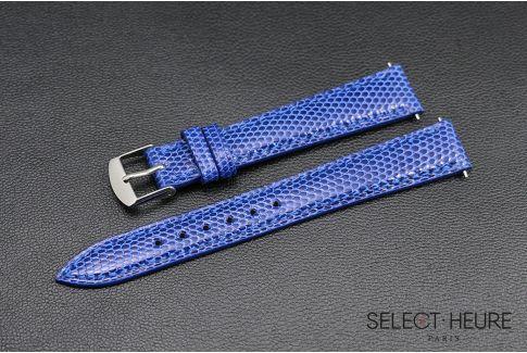 Bracelet montre Lézard véritable SELECT-HEURE Bleu Roi pour femmes, pompes rapides (interchangeable)