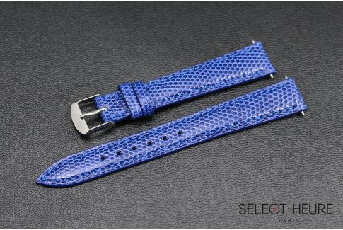 Royal Blue genuine lizard SELECT-HEURE women watch strap, quick release spring bars