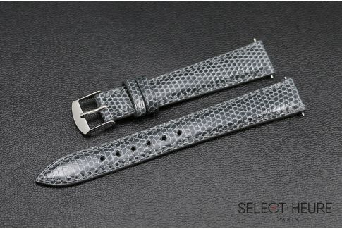 Grey genuine lizard SELECT-HEURE women watch strap, quick release spring bars