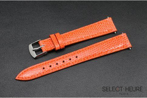 Bracelet montre Lézard véritable SELECT-HEURE Orange pour femmes, pompes rapides (interchangeable)