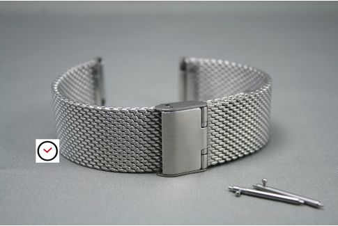 Stainless steel MESH watch strap (milanese) with quick release spring bars -  18, 20, 22 or 24 mm width