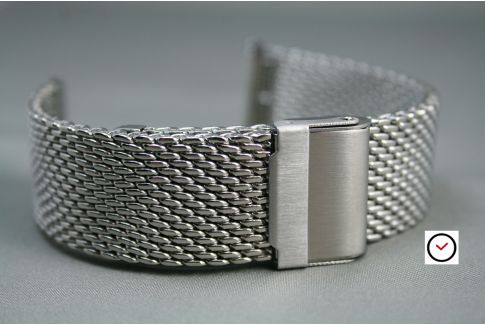 Stainless steel MESH watch strap (milanese) -  18, 20, 22 or 24 mm width - adjustable length and security clasp