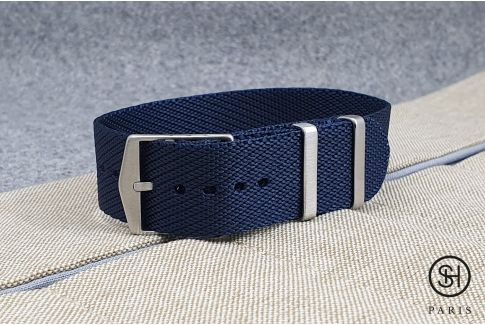 Bracelet montre Nylon Sergé SELECT-HEURE ajustable Bleu Nuit