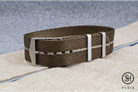 Bracelet montre Nylon Sergé SELECT-HEURE ajustable Bronze Sable