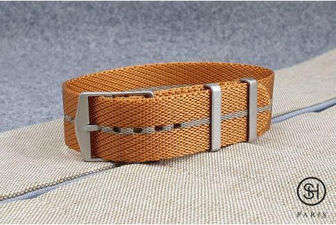 Bracelet montre Nylon Sergé SELECT-HEURE ajustable Ocre Sable
