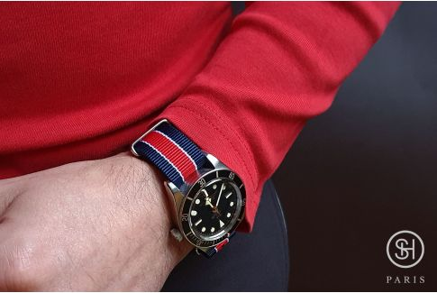 Bracelet montre NATO nylon SELECT-HEURE - Paris -, boucle indémontable en acier inox