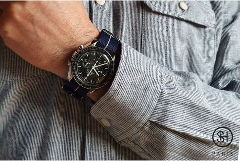 Bracelet montre NATO nylon SELECT-HEURE - New York -, boucle indémontable en acier inox