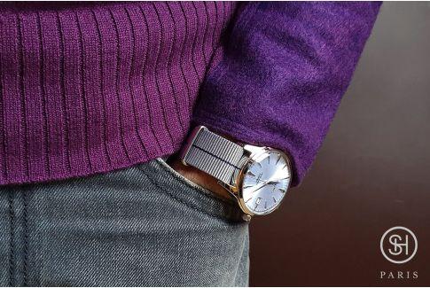 Bracelet montre NATO nylon SELECT-HEURE - Tokyo -, boucle indémontable en acier inox