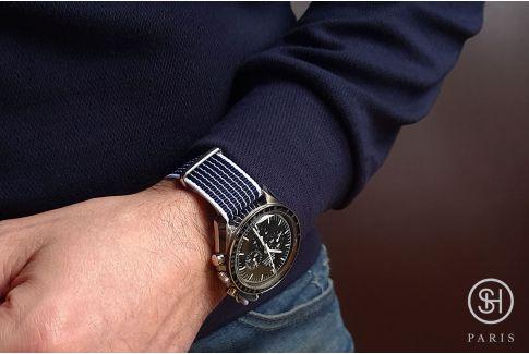 Bracelet montre NATO nylon SELECT-HEURE - Helsinki -, boucle indémontable en acier inox