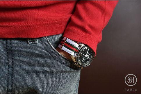 Bracelet montre NATO nylon SELECT-HEURE - Auteuil -, boucle indémontable en acier inox