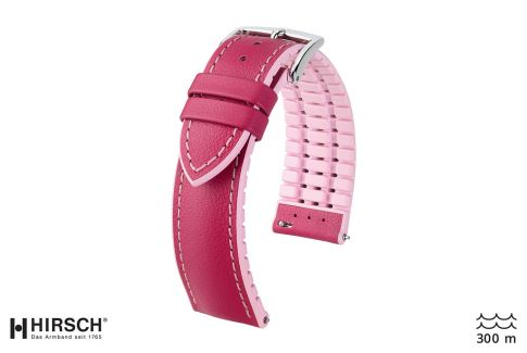 Cherry Pink Lindsey HIRSCH watch bracelet (waterproof)