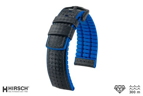 Black Blue Ayrton HIRSCH watch bracelet (waterproof)