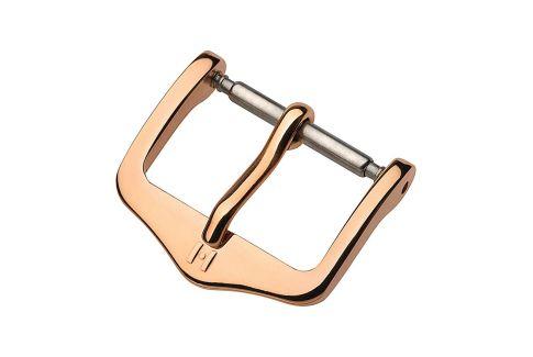 Boucle ardillon HIRSCH H-Tradition acier inox or rose pour bracelet montre