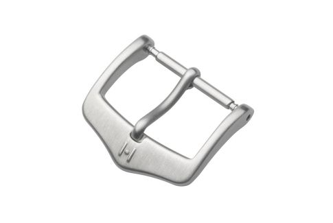 HCB HIRSCH watch strap buckle, brushed stainless steel (mat)