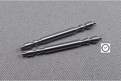 2 special strong double flanged spring bars