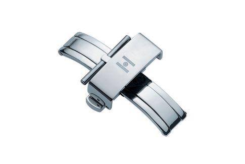 Boucle déployante à poussoirs (papillon) HIRSCH acier inox pour bracelet montre