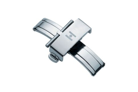 HIRSCH pusher deployment buckle (butterfly), stainless steel