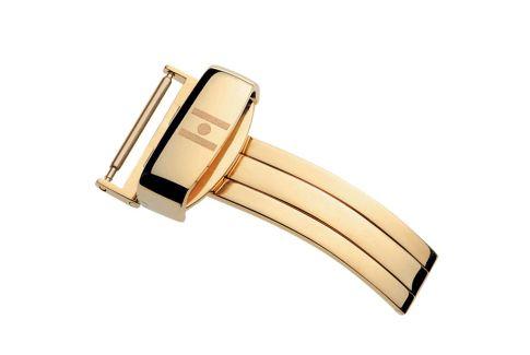Boucle déployante sport HIRSCH en acier inox or jaune pour bracelet montre