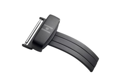 HIRSCH sport deployment buckle for watch, black PVD stainless steel
