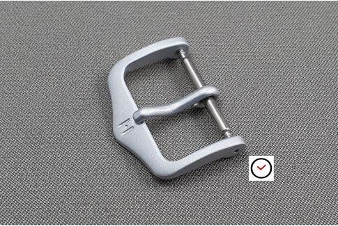 HSL HIRSCH buckle for watch straps, matt steel color aluminium
