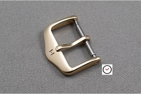 Boucle ardillon HIRSCH HSL aluminium couleur or (dorée) pour bracelet montre