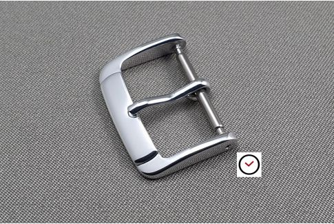 Trendy buckle for watch strap, steel color aluminium