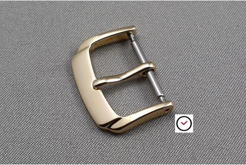 Trendy buckle for watch strap, gold color aluminium