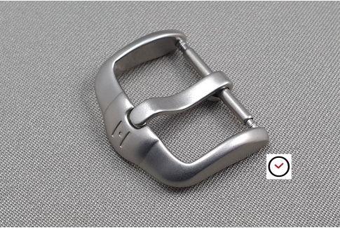 Boucle ardillon HIRSCH H-Active acier inox sablé pour bracelet montre