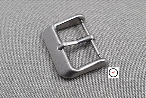 Vintage buckle for watch straps, brushed stainless steel